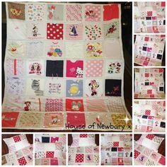 Patchwork Memory Keepsake made from you cherished Baby Clothes ... : quilts made from baby clothes uk - Adamdwight.com
