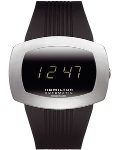 no really, it is an automatic watch! Swiss movement powers the LED display! Grandpa, meet the LED generation! Cool Watches, Watches For Men, Unique Watches, Bb Shop, Hamilton Khaki Navy, Hamilton Jazzmaster, Mini Arcade, Liquid Crystal Display