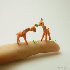 08+inch+crochet+giraffe++micro+miniature+animal+by+LamLinh+on+Etsy,+$39.00