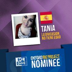 Vote for her project: http://www.oxfordbigproject.com/en/project-nominee/la-diversion-no-tiene-edad