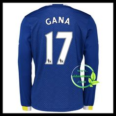 Fotballdrakter Everton Langermet GANA #17 Hjemmedraktsett 2016-2017 Everton, Premier League, Graphic Sweatshirt, Sweatshirts, Sports, Sweaters, Tops, Fashion, Hs Sports