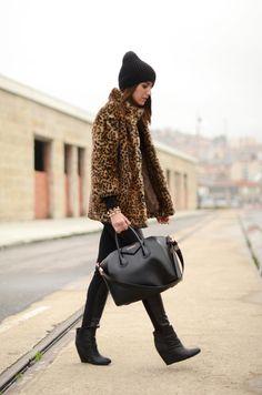 coat: Bershka (old) wedges: Café Noir – Stylisim (aw 11-12) bag: Givenchy sweater: Zara (old) beanie: h (old) pants: Queens Wardrobe (old) bracelets: Lowlita & you (image: lovelypepa)