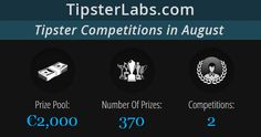 Join TipsterLabs Tipster Competitions In June - Total Prize Pool: