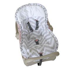 Capa Bebê Conforto Chevron Cinza Biramar Baby - Baby Enxoval - BabyEnxoval