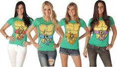 TMNT Teenage Mutant Ninja Turtles Costume Juniors T-shirt