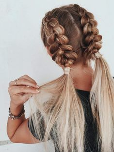 easy braided hairstyles for long hair frisuren frauen frisuren männer hair hair styles hair women Natural Braided Hairstyles, Fishtail Braid Hairstyles, Braided Hairstyles For Wedding, Braided Hairstyles Tutorials, Fringe Hairstyles, Hairstyle Ideas, Hairstyles 2018, Workout Hairstyles, Black Hairstyles