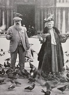 Madame and Monsieur Monet, going to the birds.