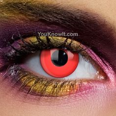 Freaky Red Out Contact Lenses (Prescription) $60 - Get your vampire on!