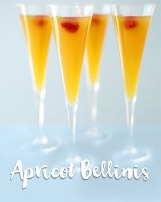 Cheers in style with this easy drink recipe! Try these apricot bellinis at your next party!