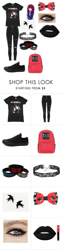 """""""I'm not okay (i promise)"""" by keepcalmandlovebands ❤ liked on Polyvore featuring River Island, Converse and Lime Crime"""