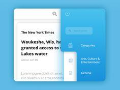 UI Reader & Side navigation by Adrian van Os