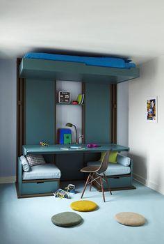 Lits escamotables dkl lits escamotables pinterest for Lit qui monte au plafond