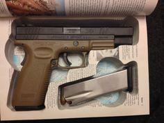 1911 Hollow Gun Safe for Pistol Gun hidden in Book, Colt, Springfield, Browning 9mm or .45 Caliber