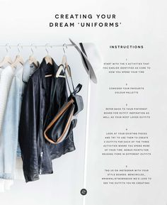 how to think less in the morning and create styled uniforms