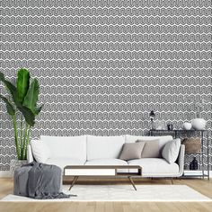 Maze peel and stick wallpaper | Abstract black and white self-adhesive wallpaper | Maze removable wallpaper - PVC Free & Removable textile Self Adhesive Wallpaper, Peel And Stick Wallpaper, Rgb Color Codes, Geometric Removable Wallpaper, Sheet Sizes, Greek Key, Life Design, Textured Walls, Designer Wallpaper