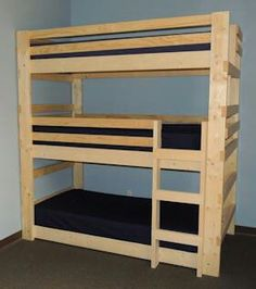 Twin Full Queen Bunk Beds & Triple Bunk Beds for Kids, Youth, Teen & College Students, Dorm Room, Cabins & Camps fitted sheets only? Bunk Beds Small Room, Modern Bunk Beds, Cool Bunk Beds, Bunk Beds With Stairs, Kids Bunk Beds, Small Rooms, Loft Beds, Bed Rooms, Sharing Bed