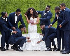 When the groomsmen put in the work too ❤ Karin #QuitetheKaricters @uniquelyatypical Photo @dotunayodeji Planner @masterplanevents