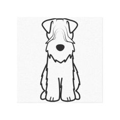 Soft Coated Wheaten Terrier Dog Cartoon Stretched Canvas Print