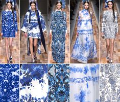 Fall 2013 Fashion Forecast | Valentino - Fall 2013 | Fashion Forecasting---these remind me of blue and white china!