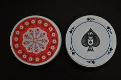 Round Playing Cards by VintageRevisitedWA on Etsy