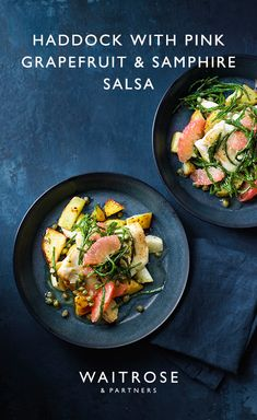 Whether it's a midweek meal for two or a dinner party with friends, this haddock with pink grapefruit and samphire salsa recipe is versatile and fresh. Cheap Meals For Two, Cheap Dinners, Fish Recipes, Seafood Recipes, Easy To Cook Meals, Dinner On A Budget, Midweek Meals, Coffee Health Benefits, Healthy Dinner Recipes