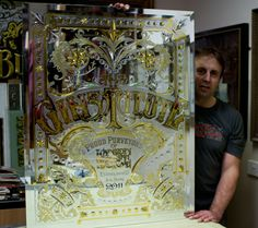 The most beautiful ornate glass sign by David A Smith in the UK