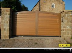 Yorkshire Electric Gates install sliding or track-ran gates to customers specifications. Gatea can be wooden or metal, manual or electric. Electric Gates, Sliding Gate, Yorkshire, Manual, Garage Doors, Track, Canning, Outdoor Decor, Home Decor