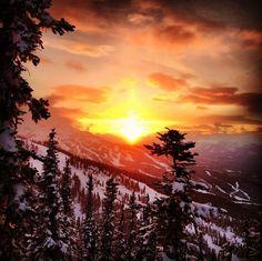 Beautiful shot of Whistler mountain