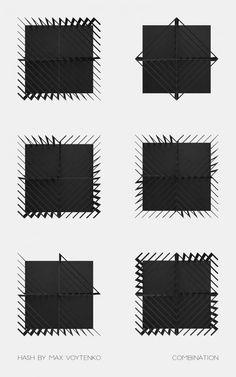 Line Studio, basé à Kiev, a pour activité la conception architecturale, le design intérieur et le développent de concept innovant d'objets. Max Voytenko, un des protagonistes du studio a conçu Hash, une étagère/bibliothèque modulaire en acier peint.  Il est possible de faire plusieurs combinaisons sur la base de deux modules ainsi que de les combiner sous des angles différents (virage à 90 degrés). Hash est un meuble graphique et visuel grâce à ses variantes surfaces striées.