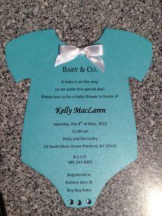 Tiffany & Co. Baby shower invitation