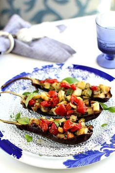 Melanzane Vegan, ripiene di verdure