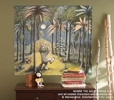 julia - they have a whole room theme on Where The Wild Things Are Mural on potterybarnkids.com
