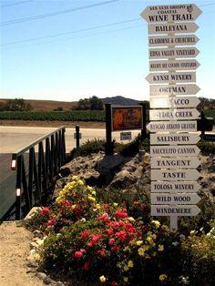 California's central coast wine trail!