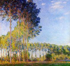 Claude Monet (1840-1926) chopos de las riberas del río Epte, visto desde el pantano Óleo sobre lienzo 1891-1892