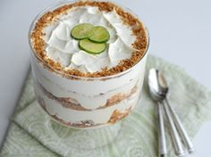Key Lime Trifle | www.getfitglobal.com For both the Key lime and the Grasshopper recipe