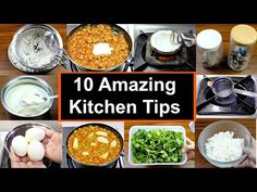 १० किचन टिप्स जो आपको मुश्किल में मदद करे | 10 Amazing Kitchen Tips | Kitchen Hacks | KabitasKitchen - YouTube Thinning Hair Remedies, Tiffin Box, Useful Life Hacks, Kitchen Hacks, Cool Kitchens, Indian Food Recipes, Cooking Tips, The Creator, Amazing