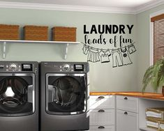 This home has endless love and laundry room sign. Funny wall decal for your laundry room. Laundry Room Decals, Laundry Decor, Wall Decals For Bedroom, Laundry Room Signs, Vinyl Wall Decals, Laundry Rooms, Wall Stickers, Laundry Shop, Chandeliers