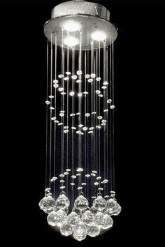 Gallery Modern Raindrop Crystal Chandelier by Gallery Chandeliers