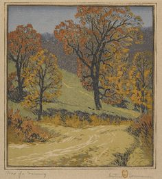 Gustave Baumann, Road of a Morning, 1916