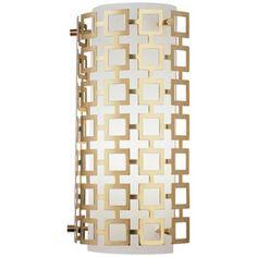 "Jonathan Adler Parker Collection 15"" High Brass Wall Sconce"