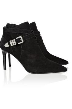 Saint Laurent|Suede ankle boots|NET-A-PORTER.COM