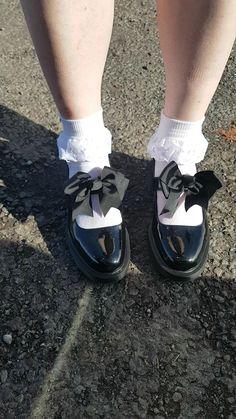 Frilly Socks, Lace Socks, Ankle Socks, Sock Shoes, Cute Shoes, Sissy Maid, Mary Jane Pumps, School Shoes, School Uniform