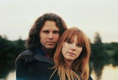 The Doors' Jim Morrison with girlfriend Pamela Courson in Saint-Leu-d'Esserent, Paris (June 28th, 1971)