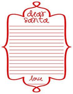 Free Printable Santa Letter Template  Free Printable Santa