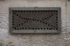 https://flic.kr/p/Dbauam | Concetto Spaziale (Spatial Concept) | Unintentional art of hand-drilled ventilation holes.  Prague, Czechia . . . . . See many more examples from my collection on the Concetto Spaziale (Spatial Concept) pinboard on pinterest. Dedicated to Lucio Fontana.