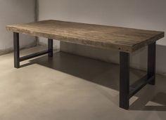 Eettafel rustiek oud hout  Woonland