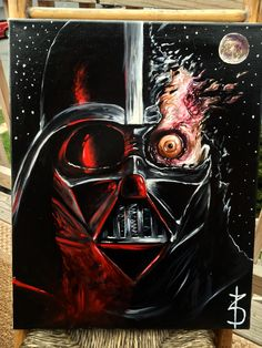 Darth Vader commission I did for someone 16x20 oil on canvas