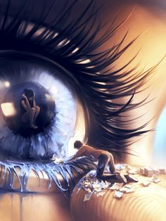 Surreal Digital Painting by Aquasixio #painting #digitalart #surreal
