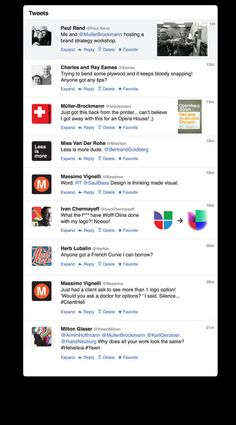 If Twitter was around 50 years ago and used by the design greats