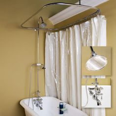 Thermostatic Shower Conversion Kit With Hand Shower - Tub Shower Enclosures - Shower - Bathroom